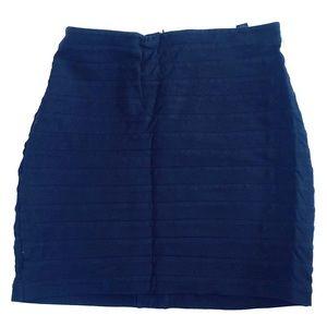 Express black bandage skirt